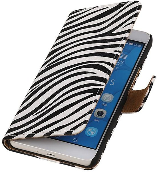 Huawei Honor 6 Plus Wit   Zebra bookstyle / book case/ wallet case Hoes    WN™