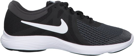 Nike Revolution 4 (GS) Sneakers - Maat 39 - Unisex - zwart/wit/grijs