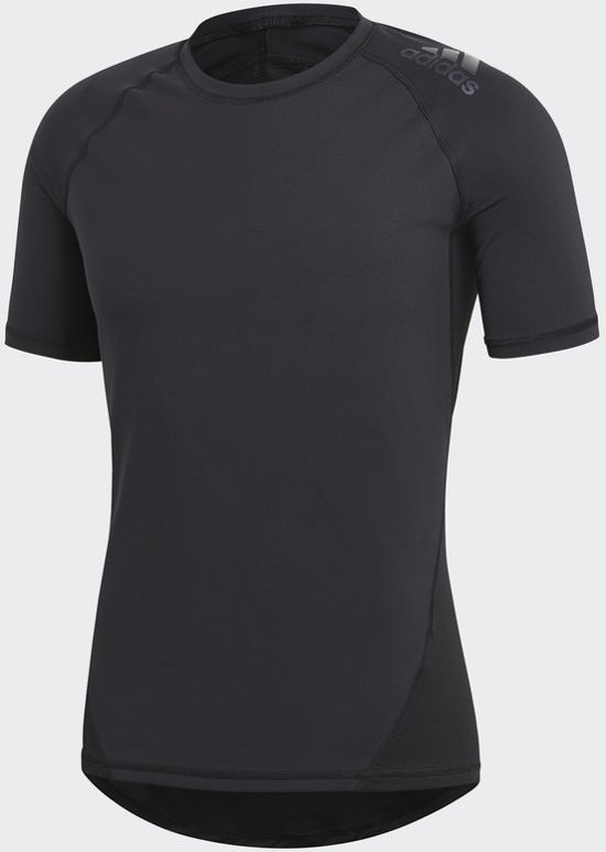 adidas AlphaSkin Tee Short Sleeve Fitnessshirt Heren - Black
