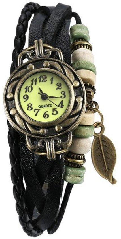 Armband Horloge Blad Zwart