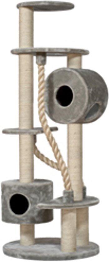 Nobby krabmeubel yuma pluche, sisal paal lichtgrijs 75 x 190 cm - 1 st