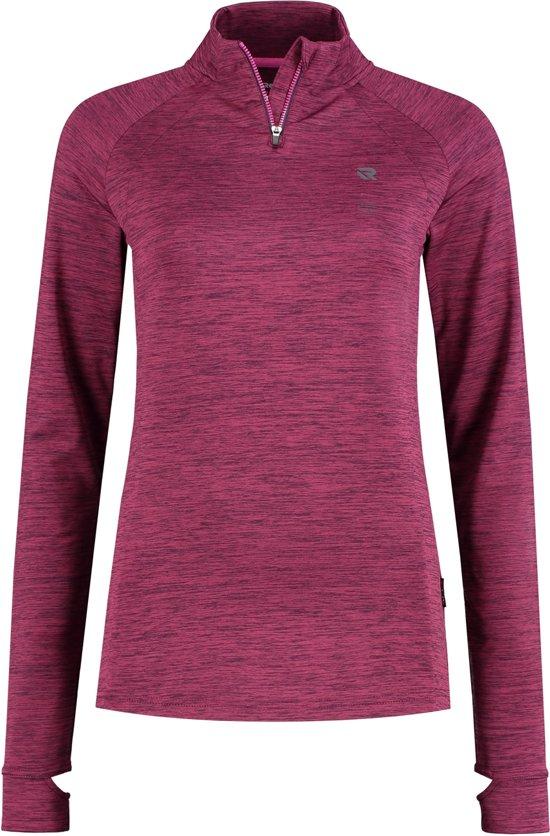 Redmax Dames trainingsshirt met lange mouwen 1/2 rits Dry-cool - Paars space dye - L