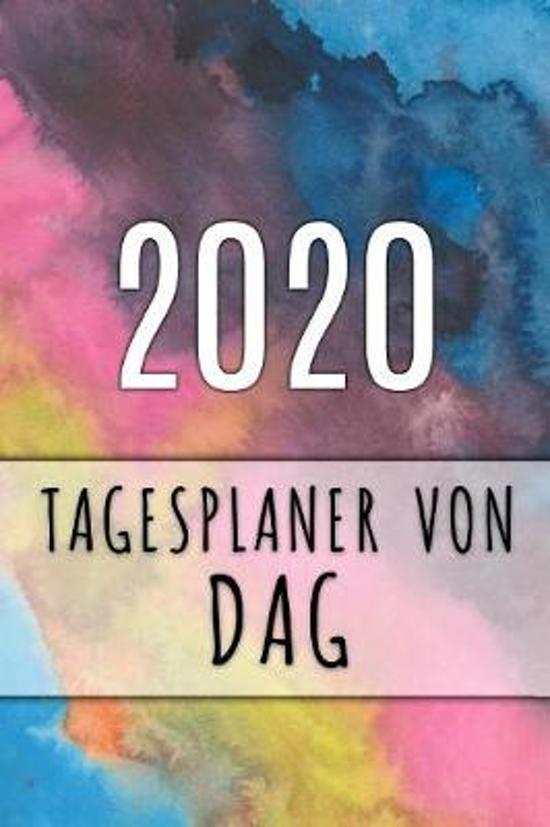 2020 Tagesplaner von Dag: Personalisierter Kalender f�r 2020 mit deinem Vornamen