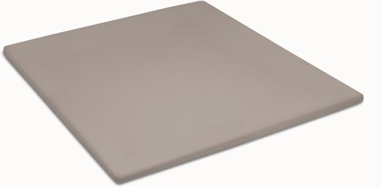 Cinderella - Topper hoeslaken (tot 12 cm) - Jersey - 180x200/210 cm - Taupe