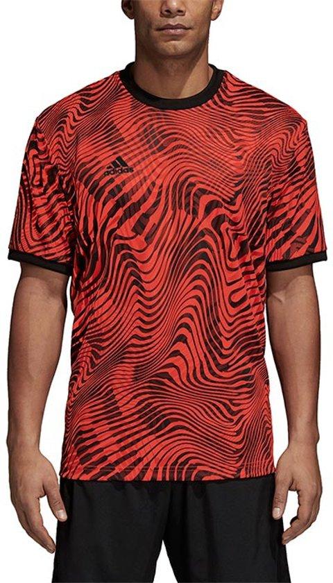 | adidas Tango voetbalshirt heren roodzwart