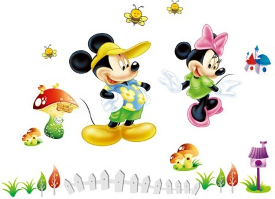 Mickey Mouse Muursticker.Bol Com Disney Mickey Mouse Minnie Mouse Muursticker