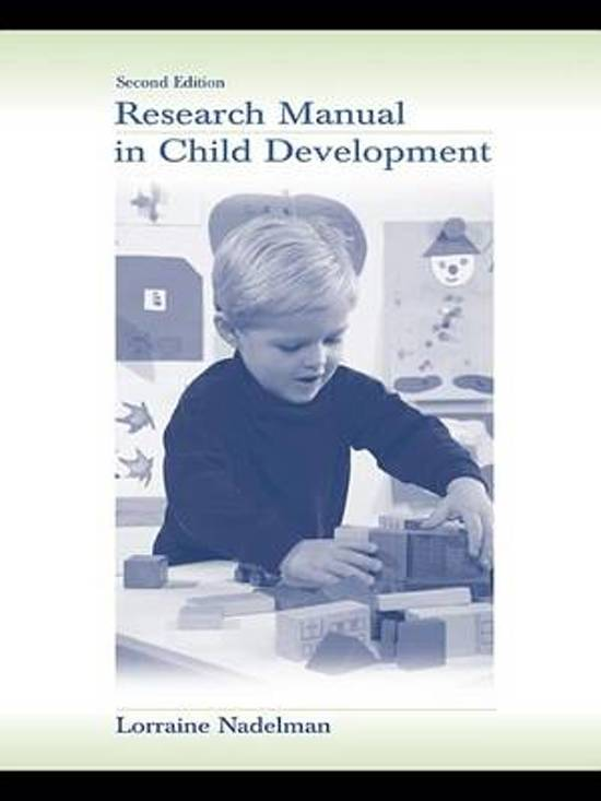 Boek cover Research Manual in Child Development van Lorraine Nadelman (Onbekend)