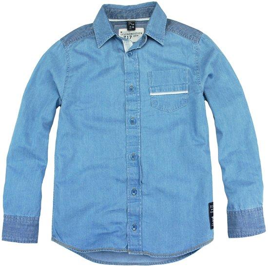 Sevenoneseven hemd jongens - jeans - Caine - maat 158/164