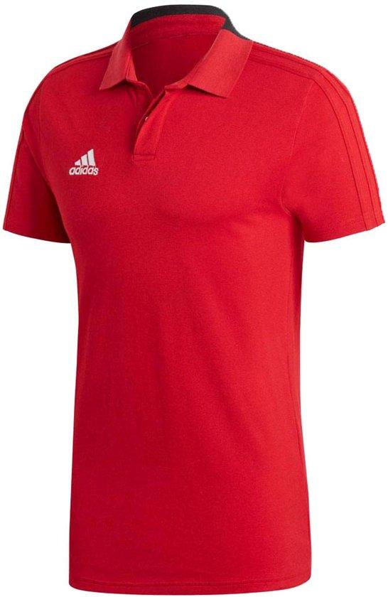 adidas Poloshirt - Maat L  - Mannen - rood