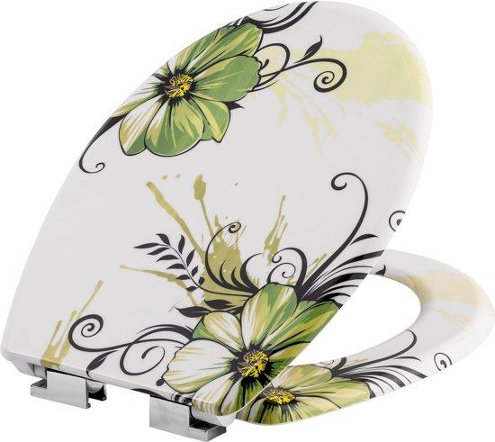 TecTake - WC bril - toiletbril - soft close - premium - bloem - 402259