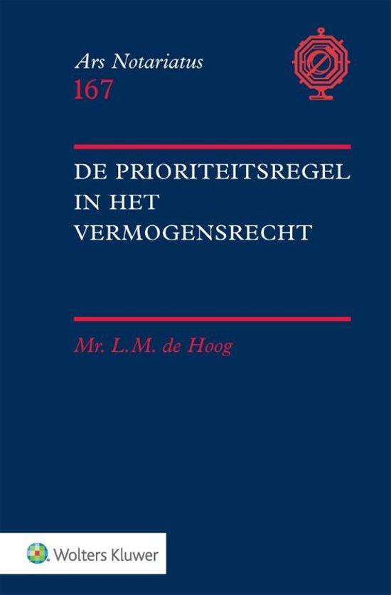 Ars notariatus 167 - De prioriteitsregel in het vermogensrecht