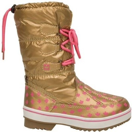 5785b727664 bol.com | Winter-grip Lace-Up - Snowboots - Meisjes - Goud - Maat 28