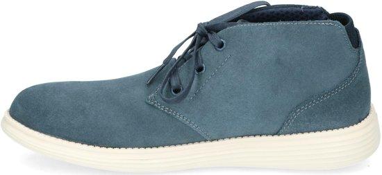 Skechers status rolano blauw schoenen heren (65551 NVY)