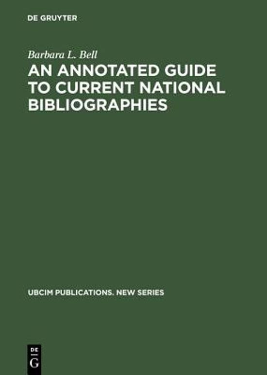 An Annotated Guide to Current National Bibliographies