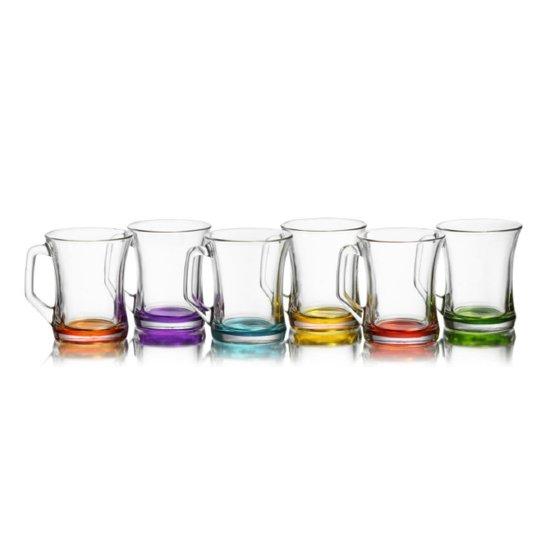 Lav Gekleurde Theeglazen - 225 ml - 6 stuks