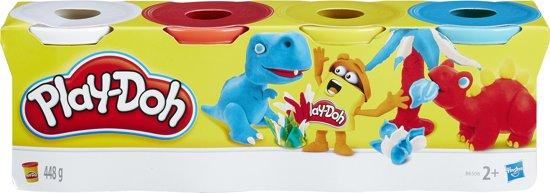 Play-Doh 4 kleuren potjes - 448 gram - Klei