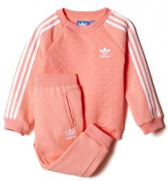 f291898f84e bol.com   Adidas fleece quilted crew joggingpak roze maat: 92