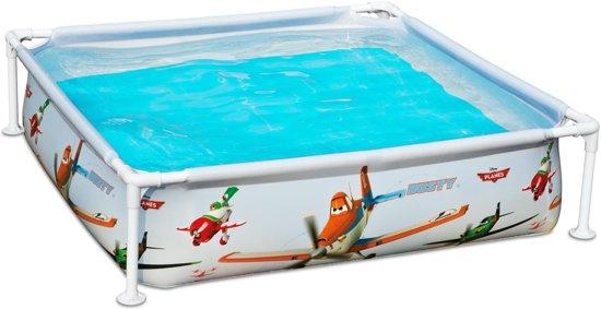 Intex mini frame pool zwembad 122 x 122 cm planes for Zwembad vierkant intex