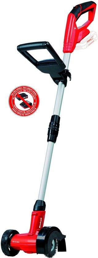 EINHELL Accu Voegenreiniger GE-CC 18 Li Solo - Power-X-Change - 18 V - Inclusief 1x Nylon / 1x Staalborstel - Zonder accu & lader