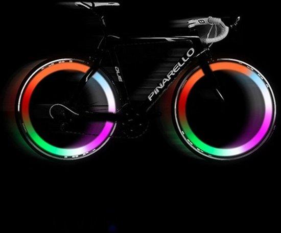 led fietswielverlichting voor op de ventiel led ventiellamp multicolor set van 2