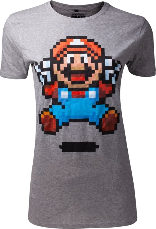 Nintendo - Super Mario Jump Pixel Art Women s T-shirt