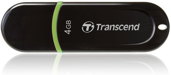 JetFlash 300 4GB - USB-Stick / Zwart