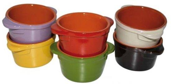 Set van 6 Mini-Braadpannen 0,4l, Terracotta - Piral