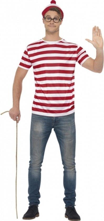Waar is Wally verkleedset voor heren 48-50 (M)