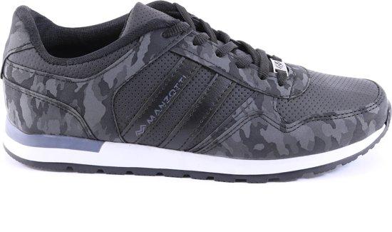 Sneakers Met Print Heren Van Manzotti Kamouflage Laag Grijs P6dtSqt