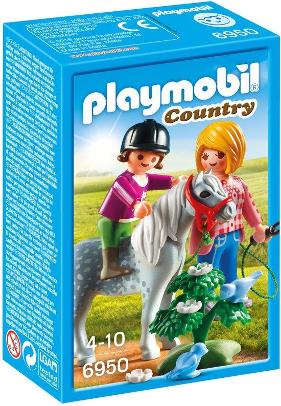 Bol Com Playmobil Ponyrijden Met Mama 6950 Playmobil