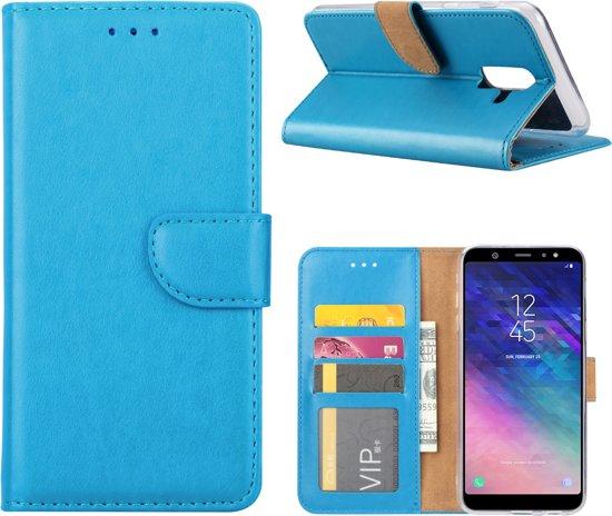Xssive Hoesje Voor Samsung Galaxy J8 J810 - Book Case - Turquoise
