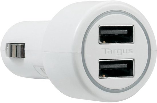 Targus Dual Tablet and Smartphone Car Charger - Oplader - Blauw