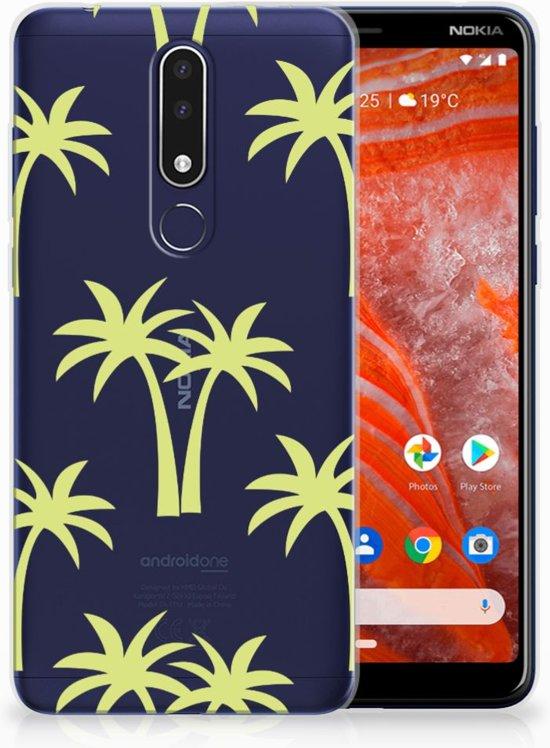 Nokia 3.1 Plus Uniek TPU Hoesje Palmtrees