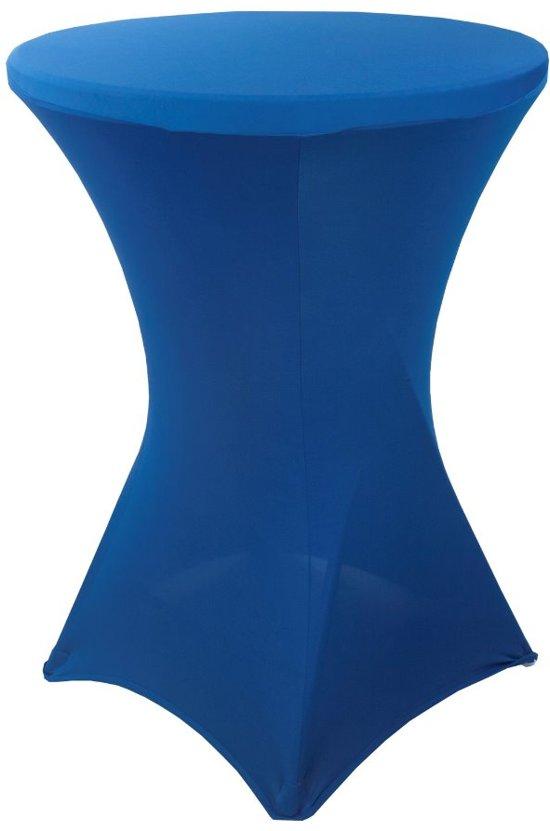 Kleed Voor Statafel.Stretch Rok Blauw Statafel 80cm