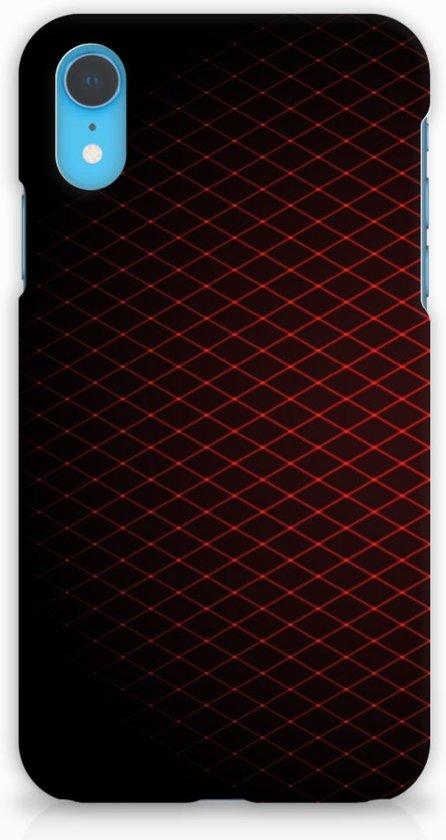 Apple iPhone XR Uniek Hardcase Hoesje Geruit Rood