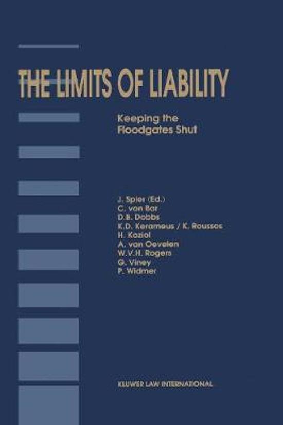 Boek cover The Limits of Liability van Jaap Spier (Hardcover)