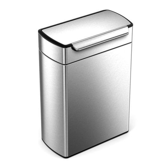 Simplehuman Rectangular Touch Bar Recycler 24 + 24 Liter