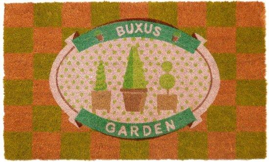 Kokosmat met opdruk Buxus garden - 45 x 75 cm