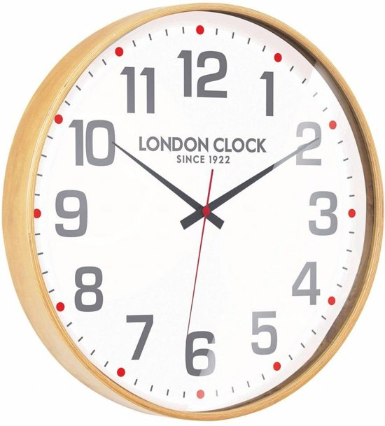 London clock Schoolklok - Boho - Hout