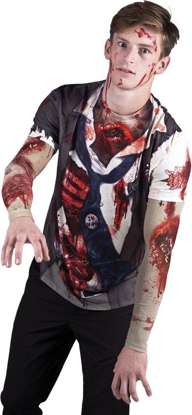 3 stuks: Fotorealistisch shirt - Zombie - Medium