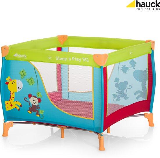 Hauck Sleep'n Play SQ - Campingbedje - 90 x 90 cm - Jungle Fun
