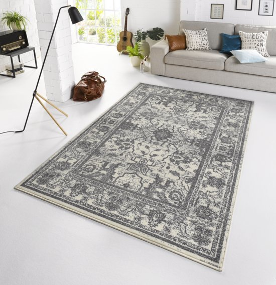 Vintage tapijt Glorious 160x230 cm Grijs & Wit