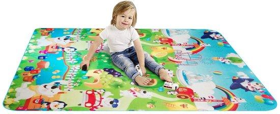 Grote XL Speelmat Vloerkleed - Groot Baby & Kindervoerkleed - Dieren Kleed Jongens & Meisjes - Binnen & Buiten