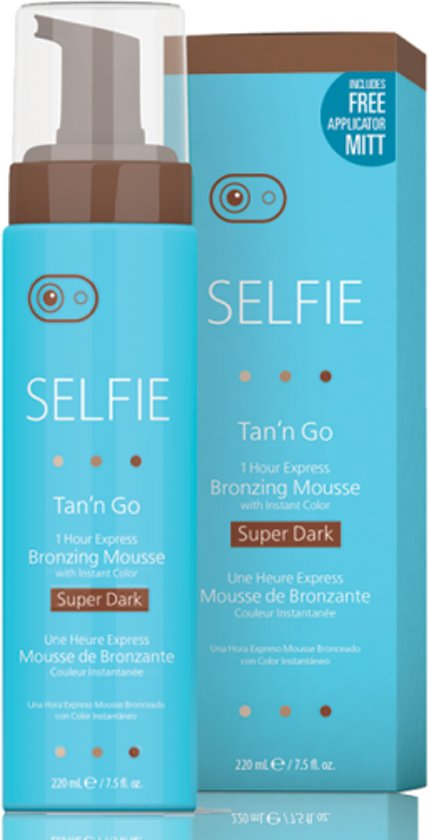 Selfie Tan 'n Go Mousse-Super Dark 220ml