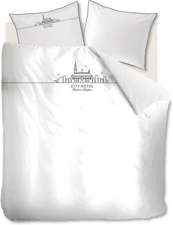 Rivièra Maison City Hotel - Dekbedovertrek - Lits-jumeaux - 240x200/220 cm - Wit