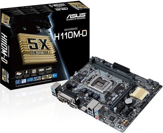 ASUS H110M-D LGA 1151 (Socket H4) Intel® H110 Micro ATX