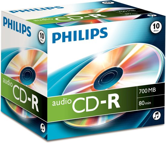 Philips Audio CD-R 80 minuten 10 stuks