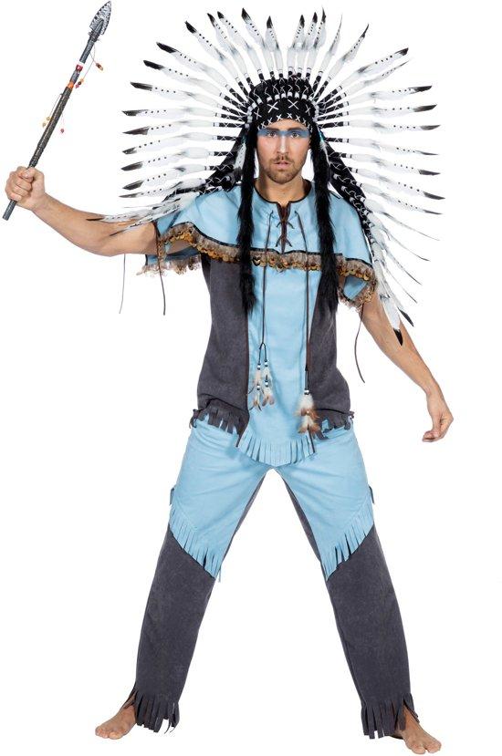 Indiaan Kostuum | Hupa Hoopa Indiaan Wilde Westen | Man | Maat 58 | Carnaval kostuum | Verkleedkleding