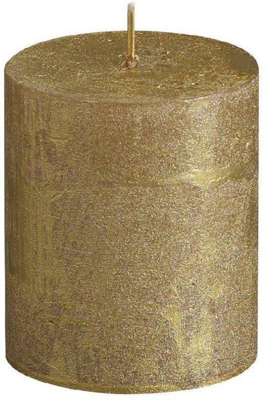 Bolsius Stompkaars Stompkaars 80/68 rustiek metallic Goud