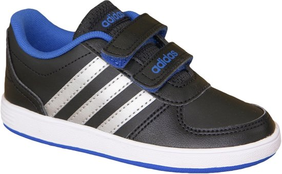 fa10dd4c9a2 bol.com   adidas Hoops Jongens sneaker - Zwart/Grijs - Maat 25